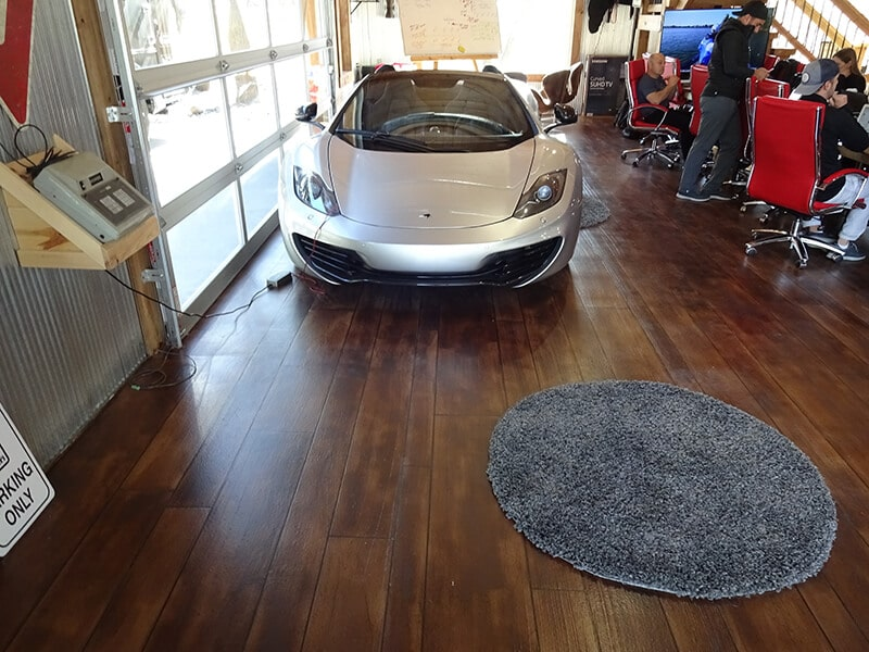Rustic Wood garage