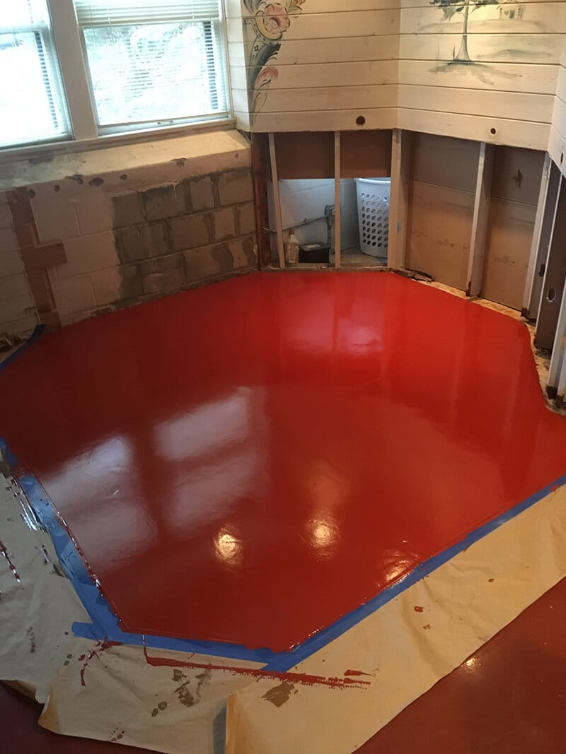 red epoxy flooring
