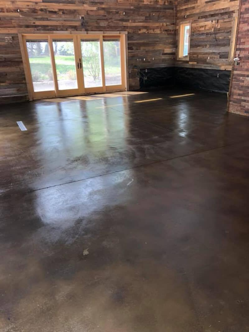 Stained Concrete blue
